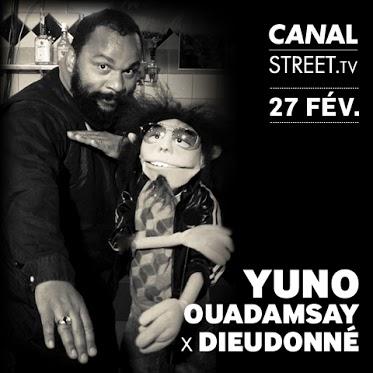 Interview Dieudonné par Yuno Ouadamsay sur CANAL STREET dans Dieudonné yuno_dieudo-carre