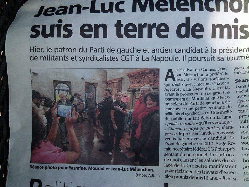 Mélenchon se fait glisser une quenelle à Cannes, Nice-Matin publie la photo ! dans actu 936959_594697860555080_1265848737_n