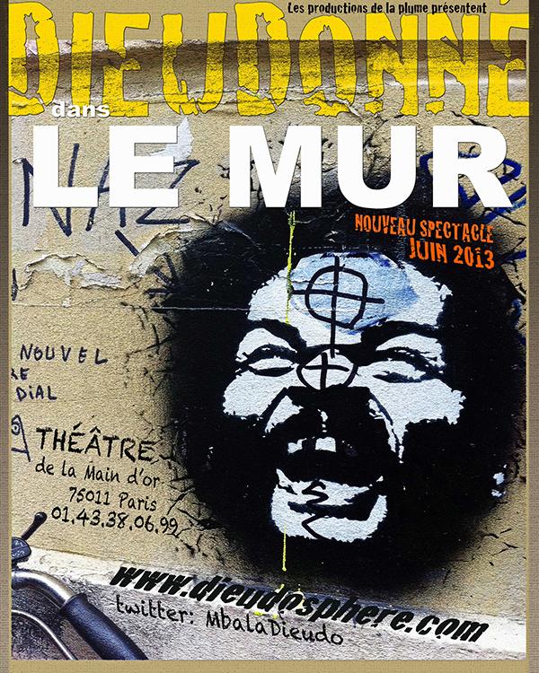Quenelle de Dieudonné à la LICRA via l'App'Licra, son affiche est un tague ! dans Dieudonné le-mur